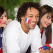 Hope French supporters — Stock Photo