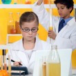 Children conducting an experiment — Stock Photo