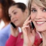 Women on the phone — Stock Photo