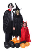 Family in Halloween costume — Stock Photo