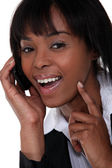Businesswoman gets the idea — Stock Photo