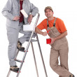 Two painters. — Stock Photo #9610375