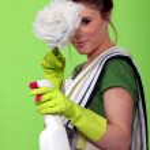 Glamorous cleaning lady — Stock Photo