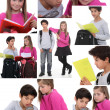 Montage of schoolchildren — Foto Stock #9613797