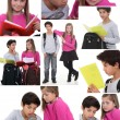 Stock Photo: Montage of schoolchildren