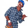 Stock Photo: Accident prone construction worker