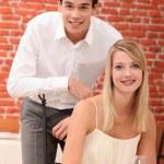 Couple in restaurant — Stock Photo #9615254