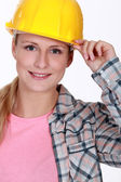 Portrait of a handywoman — Stock Photo