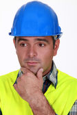 A worried tradesman — Stock Photo