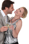 Flirtatious man and woman — Stock Photo