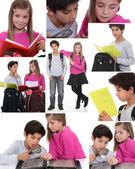 Montaż uczniów — Zdjęcie stockowe
