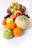 Miscellaneous fruits isolated — Stock Photo