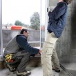 Stock Photo: Window fitters