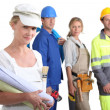 Four from different career sectors — Stock Photo #9671222