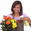 Female florist - Stock Photo