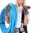 Female plumber — Stock Photo #9672083