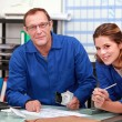 Colleagues ordering parts — Stock Photo
