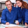 Tradespeople working together in the office — Stock Photo
