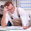 Reviewing Plumber reports — Stock Photo #9673148