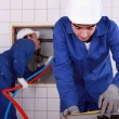 Plumbing installation - Stock Photo