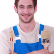Professional painter smiling — Stock Photo