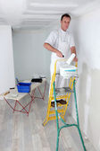 Painter working on project alone — Stock Photo