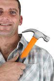 Mann mit einem hammer — Stockfoto