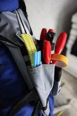 Close-up of tool belt — Stock Photo