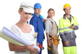 Four from different career sectors — Stock Photo
