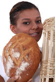 Portrait of a female baker — Stock Photo