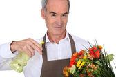 Florist with vaporizer — Stock Photo