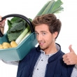 Vegetable seller — Stock Photo #9680751