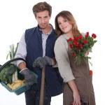 Gardener and florist — Stock Photo