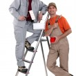 Stock Photo: Decorating duo