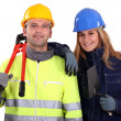 A team of tradespeople - Stock Photo