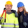 Team of tradespeople — Stock Photo #9681562