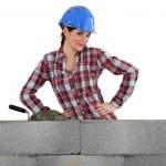 ženské zedník — Stock fotografie