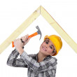 Female woodworker — Stock Photo #9681987