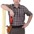Confident carpenter - Stockfoto