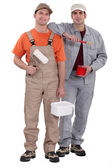 Painting and decorating duo — Stock Photo