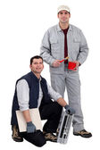 Painter and tiler — Stock Photo