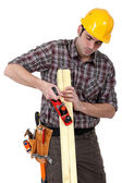 Joiner at work — Stock Photo