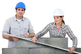 Bricklayers — Stock Photo