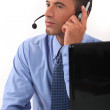 Stock Photo: Phone operator