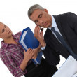 Boss and assistant working closely together — Stock Photo #9704890
