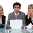 Stock Photo: Interview panel