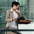 Businesswoman with folders — Stock Photo #9705925