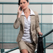 Stok fotoğraf: Busy businesswombetween meetings
