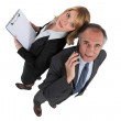 Dynamic business couple — Stock Photo