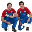 Two decorators look exactly the same - Stockfoto